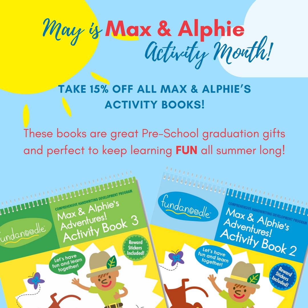15% Off All Max and Alphie Activity Books